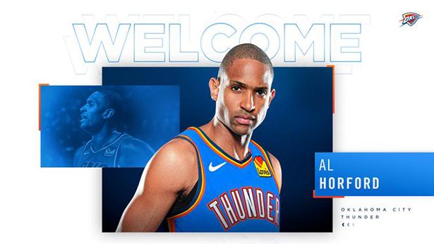 El Thunder completa oficialmente el trato con Al Horford
