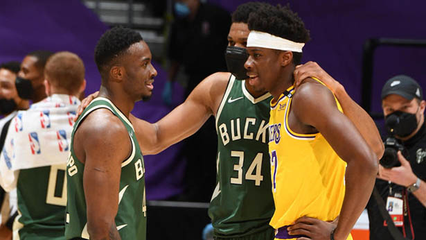"""Giannis Antetokounmpo tuvo los """"momentos favoritos"""" de su carrera en la NBA contra los Lakers, y es posible que no lo hayas notado"""